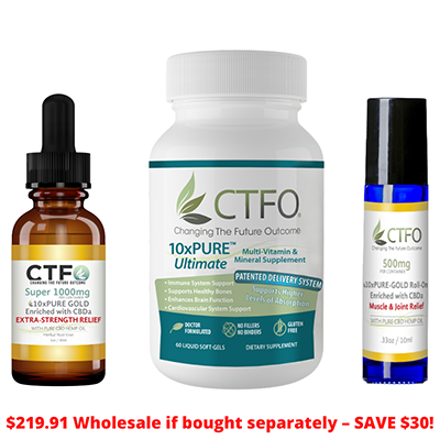 CBD 10x PURE Combo Pack From CTFO